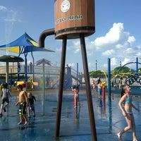 Photo taken at TOBAY Spray Park by Kerri B. on 7/28/2014