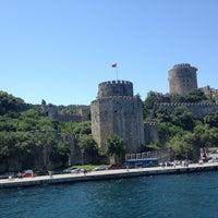 Photo taken at Rumelihisarı Sahili by Kadim D. on 6/23/2013