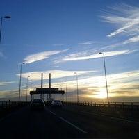 Photo taken at The Queen Elizabeth II Bridge by Claire P. on 12/2/2012