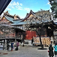 Photo taken at Yushima Tenmangu Shrine by nik on 2/11/2013
