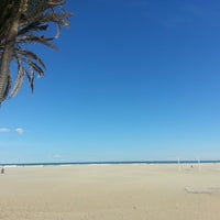 Photo taken at Les Arenes Beach by María Jose E. on 2/9/2013