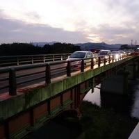 Photo taken at 福崎大橋西交差点 by koryu m. on 11/22/2014