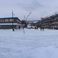 Photo taken at Moelv stasjon by iRomby on 1/21/2014