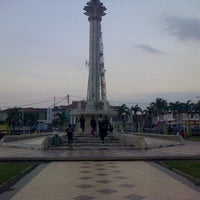 Photo taken at Alun-Alun Karawang by Agiel A. on 7/15/2014