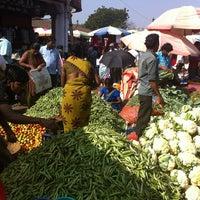 Photo taken at Mapusa Market by Yulianna U. on 1/25/2013