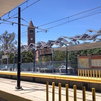 Photo taken at Expo Park/USC Metro Station by South Park i. on 7/16/2013