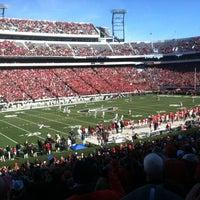 Photo taken at Sanford Stadium by Heather N. on 11/24/2012