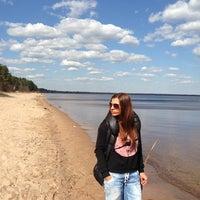 Photo taken at Lake Ladoga by Марика on 5/2/2013