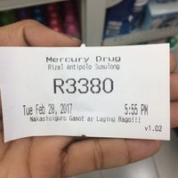 Photo taken at Mercury Drug Antipolo by Dimple d. on 2/28/2017