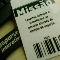 Foto tirada no(a) Esporte Interativo por Carol M. em 11/24/2012