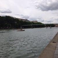 Photo taken at Paris Plages – Bassin de la Villette by Guillaume A. on 7/30/2016
