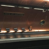 Photo taken at Métro Arts et Métiers [3,11] by Emmanuelle B. on 4/13/2017
