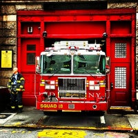 Photo taken at FDNY Squad 18 by Yevgen P. on 5/4/2014