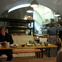Photo taken at E5 Bakehouse by Simon C. on 12/1/2012