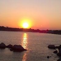 Photo taken at Vouliagmeni Beach by Πεγκυ.. !. on 7/17/2013