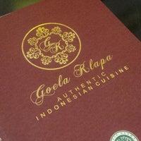 Photo taken at Goela Klapa Restaurant by Sugenk Nur Ariyadi A. on 7/30/2014