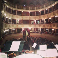 Photo taken at Teatro Comunale Piermarini by FORM O. on 2/13/2015