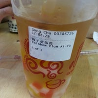 Photo taken at Gong Cha 贡茶 by Clara C. on 3/9/2013
