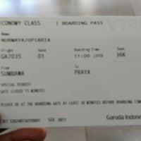 Photo taken at Sultan Muhammad Kaharuddin airport Sumbawa Besar by Arya U. on 2/23/2017