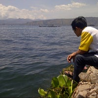 Photo taken at Danau Toba - Ferry Penyeberangan by Badai S. on 1/9/2014