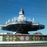 Photo taken at Fuente de la China Poblana by Enrique G. on 1/11/2013