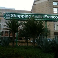 Photo taken at Shopping Anália Franco by Adiana R. on 12/18/2012