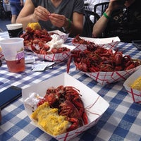 Photo taken at Tulane Crawfish Boil @ Boat Basin by Janet C. on 5/31/2014