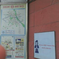 Photo taken at Vishwavidyalaya Metro Station by Dhruv P. on 7/21/2014