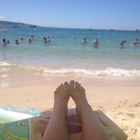 Photo taken at Praia do Embrulho by Laura C. on 1/19/2014