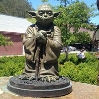 Photo taken at Yoda Statue by Steve T. on 7/6/2013
