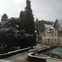 Photo taken at Falkenstein Grand Kempinski Hotel by Xenia Y. on 12/4/2012