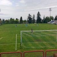 Photo taken at KTÜ Futbol Stadyumu by Tamer B. on 5/8/2014