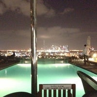 Photo taken at Hilton Dubai Roof Pool by Bart Vanden Berghe S. on 12/12/2012