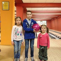 """Photo taken at Bowling """"ONE"""" by Anete on 3/19/2014"""