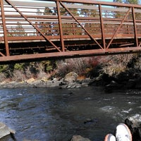 Photo taken at Deschutes River Trail Footbridge by Sergio L. on 11/22/2012