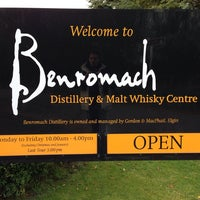 Photo taken at Benromach Distillery and Malt Whisky Centre by Ladislau H. on 10/10/2013