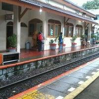 Photo taken at Stasiun Kemayoran by ocha s. on 1/9/2013