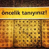 Photo taken at 4. Levent Metro İstasyonu by Selim K. on 3/16/2013
