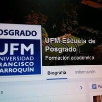 Foto diambil di UFM Escuela de Posgrado oleh @manuelpm M. pada 6/19/2014