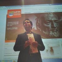 Photo taken at Auditorio Milton Friedman UFM by @manuelpm M. on 2/7/2014