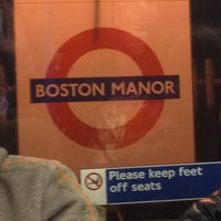 Photo taken at Boston Manor London Underground Station by Neil R. on 12/12/2012
