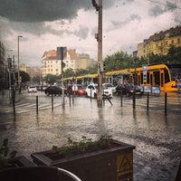 Photo taken at Széna tér by Balázs L. on 6/8/2013