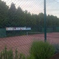 Photo taken at Tennis Club Verlaine by Jean-François M. on 6/16/2013