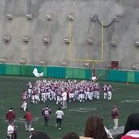 Photo taken at Estadio JOM UVM by Daniela M. on 9/14/2014