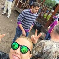 Photo taken at Пейнтбольный клуб Revolt by Ksenia N. on 5/2/2015