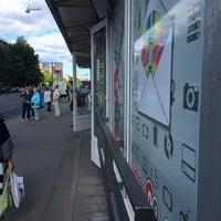 """Photo taken at Остановка «ст. м. """"Черная речка""""» by Ann on 6/4/2016"""