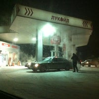Photo taken at АЗС Лукойл by Alex R. on 12/20/2012