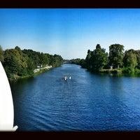 Photo taken at Gartenfelder Brücke by Aufund A. on 9/5/2013