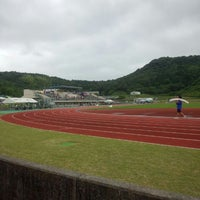 Photo taken at 薩摩川内市 総合運動公園陸上競技場 by Youko K. on 6/2/2013