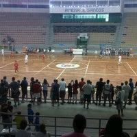 Photo taken at Arena Santos by Barbara K. on 5/1/2013